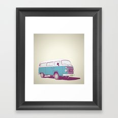 VW Combi v.02 Framed Art Print