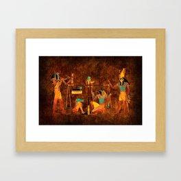 Ancient Egyptian Gods Framed Art Print