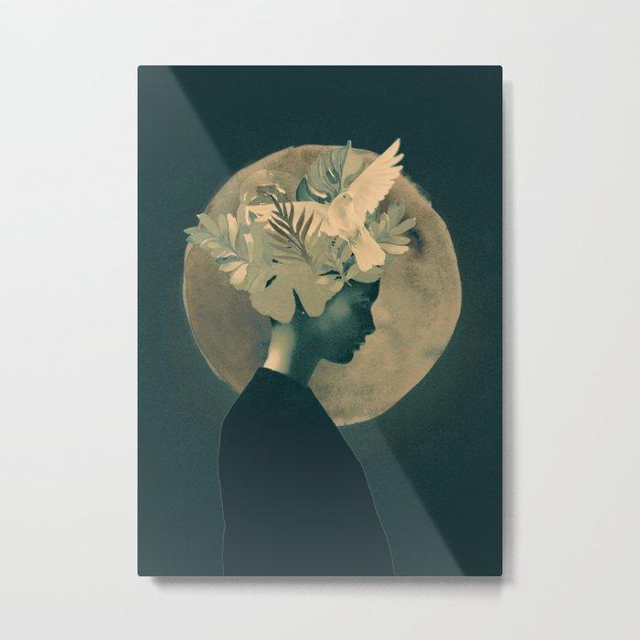 Moonlight Lady Metal Print