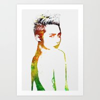 miley cyrus Art Prints featuring Miley Cyrus by Greg21