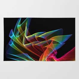 Dancing Northern Lights, Abstract Summer Sky Rug