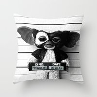 gizmo Throw Pillows featuring Gizmo lineup by Christophe Chiozzi