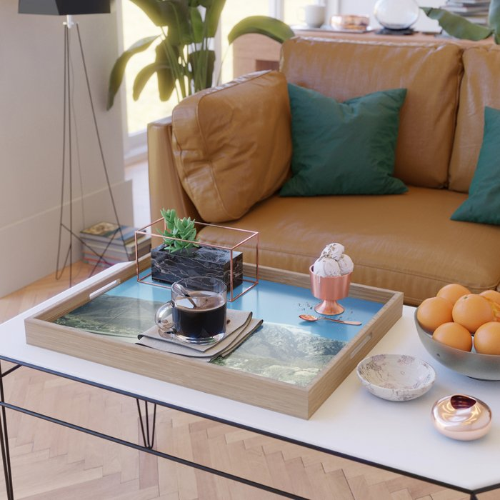 Mountain Snow in Palm Springs California Serving Tray