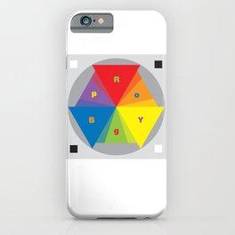 Color wheel by Dennis Weber / Shreddy Studio with special clock version iPhone Case
