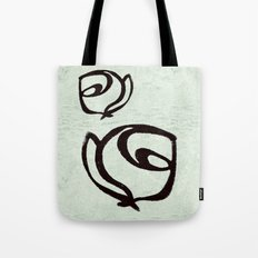 Flowers, Mother-Daughter, Mint Green Tote Bag