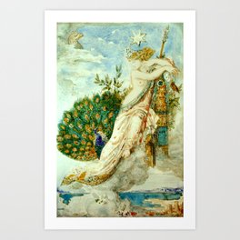 "Gustave Moreau ""The Peacock Complaining to Juno"" Art Print"