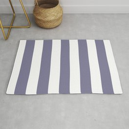 Rhythm grey - solid color - white vertical lines pattern Rug