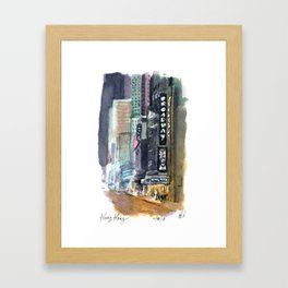 King Kong Marquee Framed Art Print