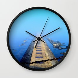 Into the mist. Wall Clock