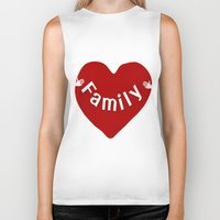 family Biker Tanks featuring Family by Geni