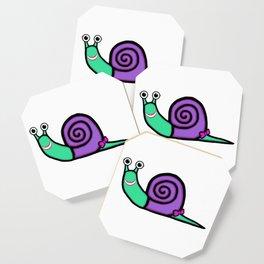 Smiley Girl Snail Coaster