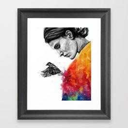 Goodbye depression Framed Art Print