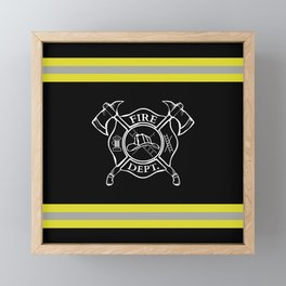 Firefighter - Turnout Gear - Maltese Cross Framed Mini Art Print