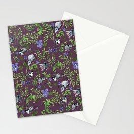Opossum, Fern, & Violet Print Stationery Cards