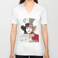 mad hatter V-neck T-shirts featuring Mad Hatter by Maryamodi