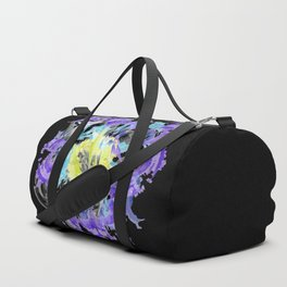 blue purple carnation abstract watercolor painting Duffle Bag