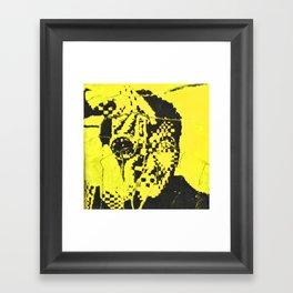 Pecker Portrait in yellow   John Waters Framed Art Print