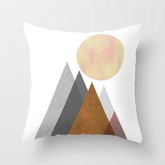 The Gathering, Geometric Landscape Art Throw Pillow