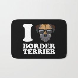 I Love Border Terrier modern v2 Bath Mat