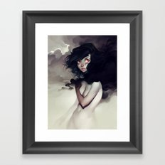 Dark Clouds Framed Art Print