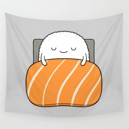 sleepy sushi Wall Tapestry