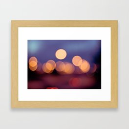 Street lights Framed Art Print