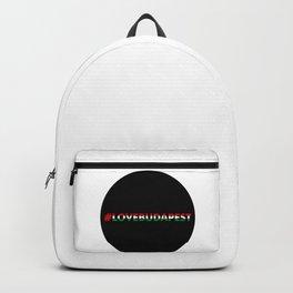 Hashtag Love Budapest, circle, black Backpack