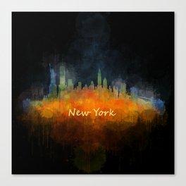 New York City Skyline Hq V04 Canvas Print