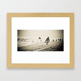 walking in the wind Framed Art Print
