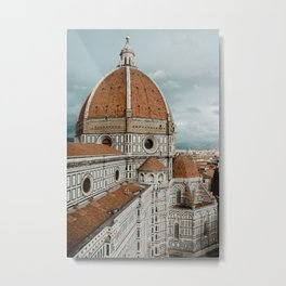 The Duomo Santa Maria del Fiore in Florence, Italy | Church cathedral in Firenze, Tuscany | Photogra Metal Print