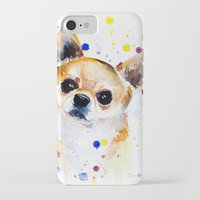 chihuahua iPhone & iPod Cases featuring Chihuahua by Slaveika Aladjova
