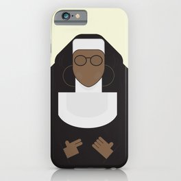 Sister Act, minimal Movie Poster, classic comedy film, funny, Whoopi Golberg, american cinema iPhone Case