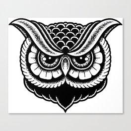 Traditional Owl Print Canvas Print