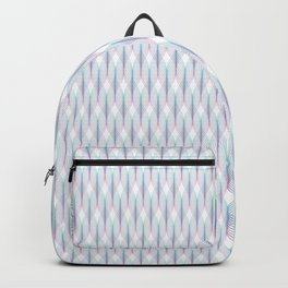 Purple and Aqua Tangled Lines Pattern Backpack