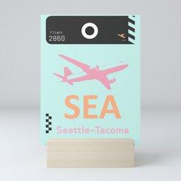 SEA Seattle airport tag Mini Art Print