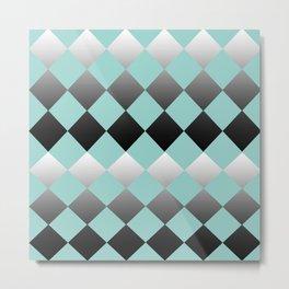 Tiffany blue gradient diamonds Metal Print