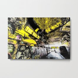 London Graffiti Art Metal Print