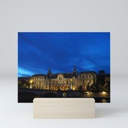 Louvre At Night 1 Mini Art Print