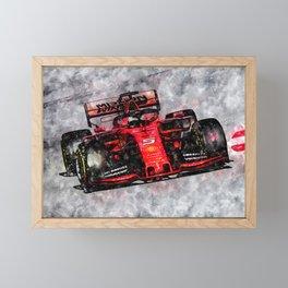 Sebastian Vettel 2019 Framed Mini Art Print