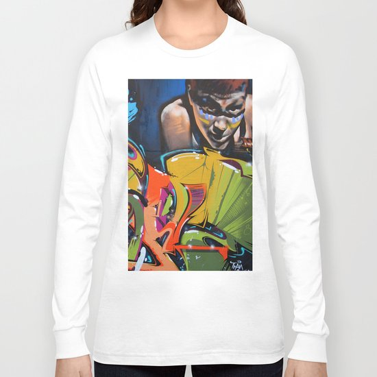 Colorful Graffiti Long Sleeve T-shirt