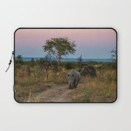 A Rhinoceros and a Sunrise in South Africa Laptop Sleeve