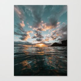 Black Rock Sunset Canvas Print