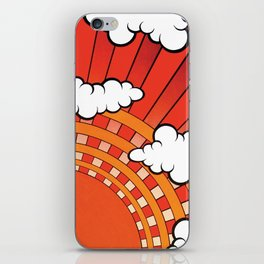 Red Ray iPhone Skin