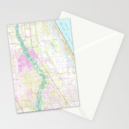 Vintage Map of Port St Lucie Florida (1948) Stationery Cards