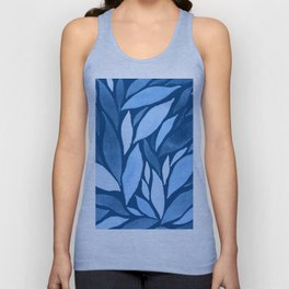 Abstract watercolour leaf XIX Unisex Tank Top