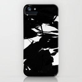 Dark Fall Leaves iPhone Case