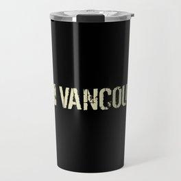 Canadian Flag: Vancouver Travel Mug
