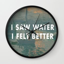 I Saw Water x French Sunrise Wall Clock