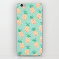 pineapple iPhone & iPod Skins featuring Pineapple   by Sibylline