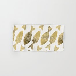 Indonesian Fish Duo – Gold Palette Hand & Bath Towel